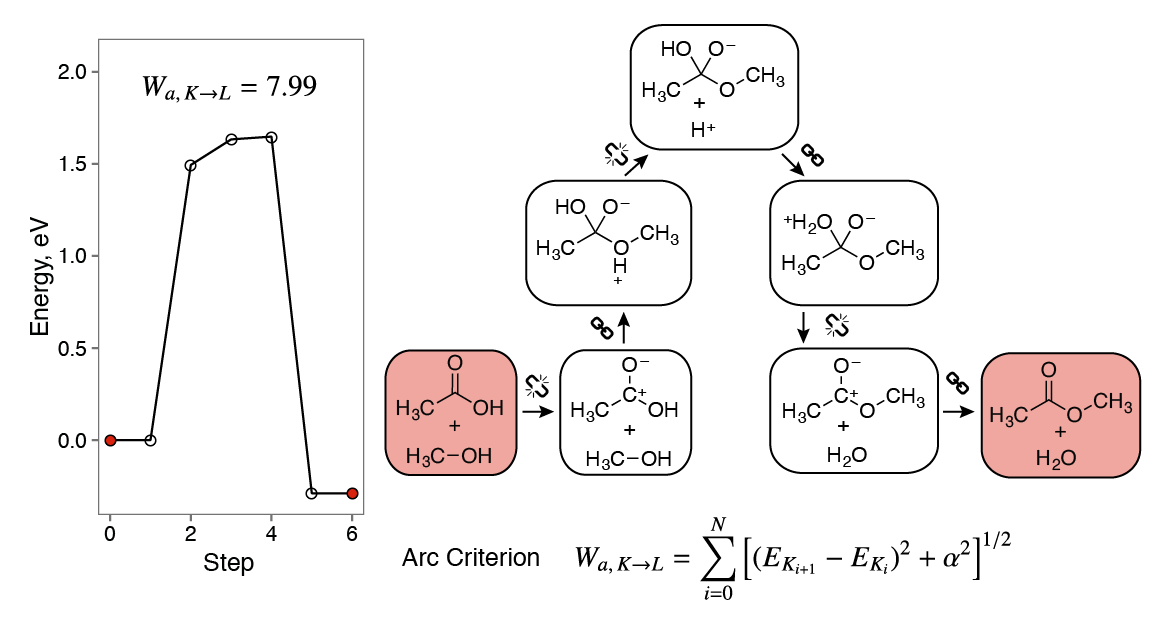 Chemical heuristics in the esterification reaction